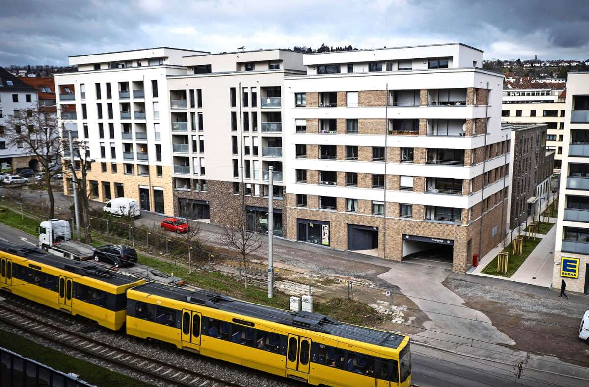 Auf dem früheren Gelände der städtischen Kinderklinik im Westen sind 2019 viele Neubauwohnungen bezugsfertig geworden. Foto: Lichtgut/Achim Zweygarth