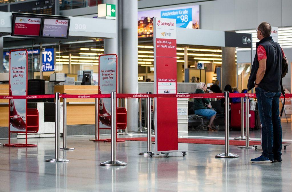 Viele Flüge von Air Berlin sind krankheitsbedingt abgesagt worden. Foto: dpa