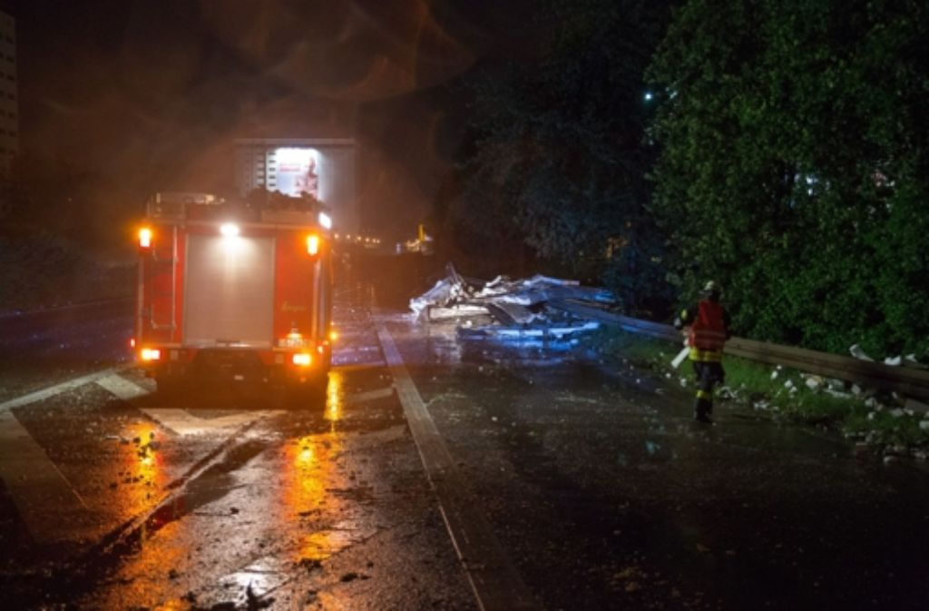 Was die Personenschäden anbetrifft, fällt die Bilanz des Unwetters für Stuttgart  eher glimpflich aus. Foto: 7aktuell.de/Florian Gerlach
