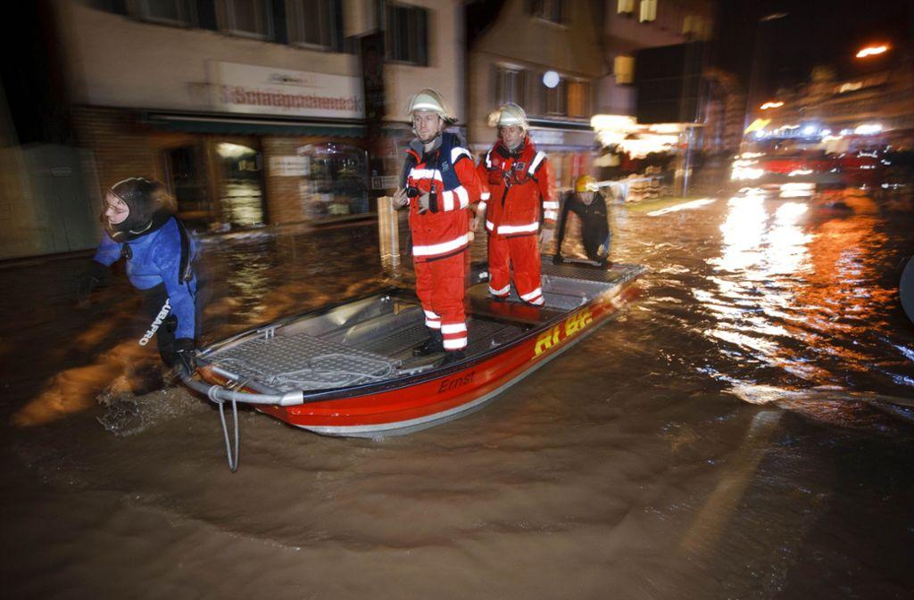 Die neuen Rückhaltebecken und Dämme sollen die Kommunen an der Murr vor einem Hochwasser wie im Januar 2011 schützen. Foto: Stoppel/Archiv