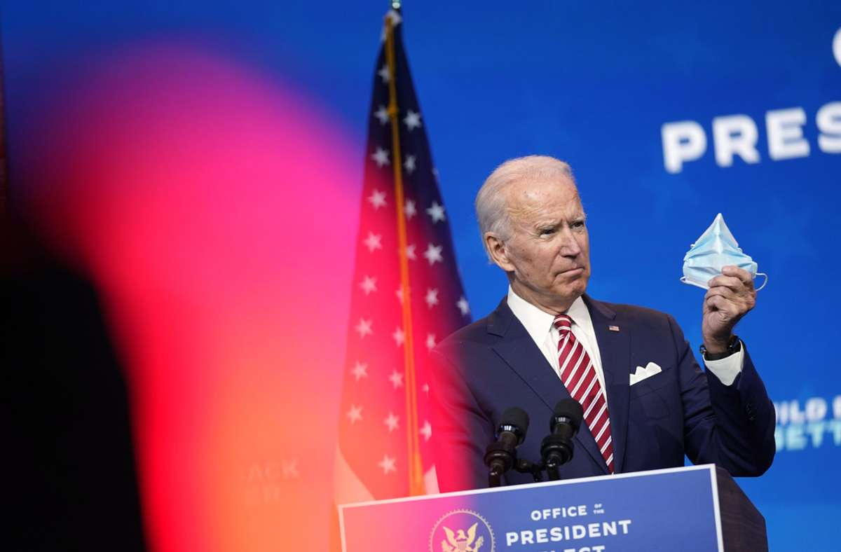 Joe Biden hat im Bundesstaat Georgie die Oberhand behalten. Foto: AP/Andrew Harnik
