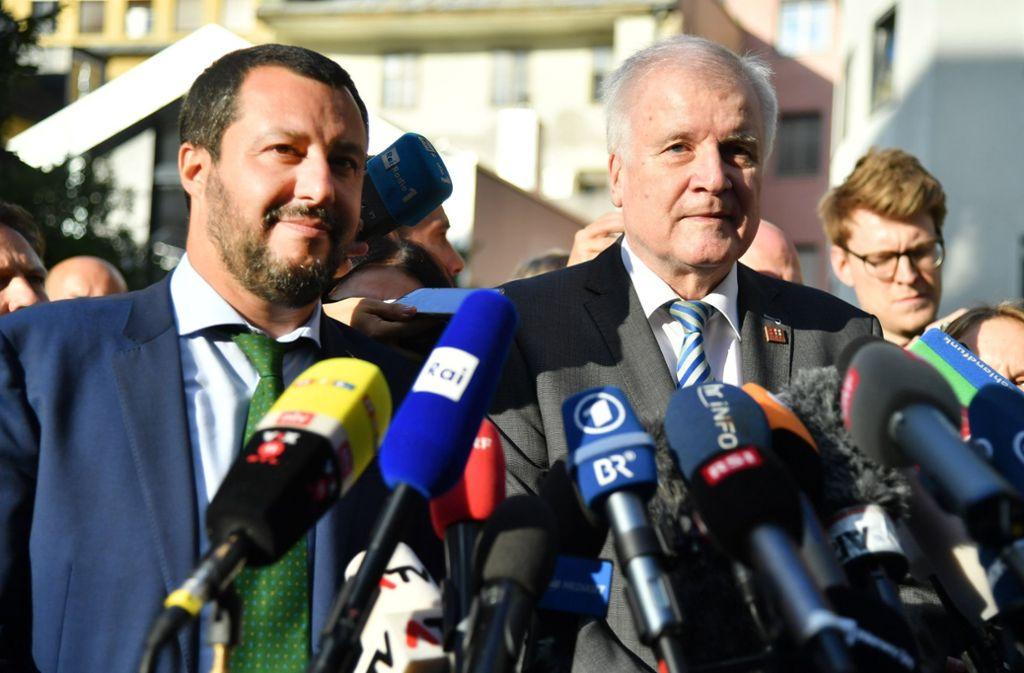 Am Mittwoch traf Innenminister Horst Seehofer seinen italienischen Kollegen Matteo Salvini. Foto: APA
