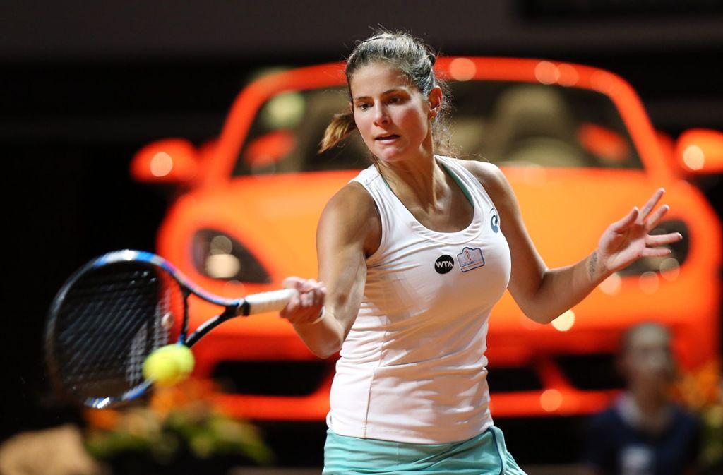 Julia Görges tritt am Wochenende in der Stuttgarter Porsche-Arena im Fed Cup für Deutschland an. Danach findet der Porsche-Tennis-Grand-Prix an selber Stelle statt. Foto: Baumann
