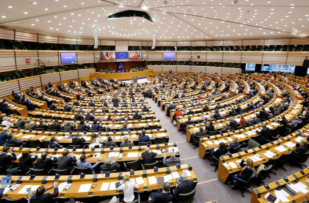 Bisher sitzen im Europaparlament – hier der Tagungsort Brüssel – auch Kleinstparteien Foto: EPA