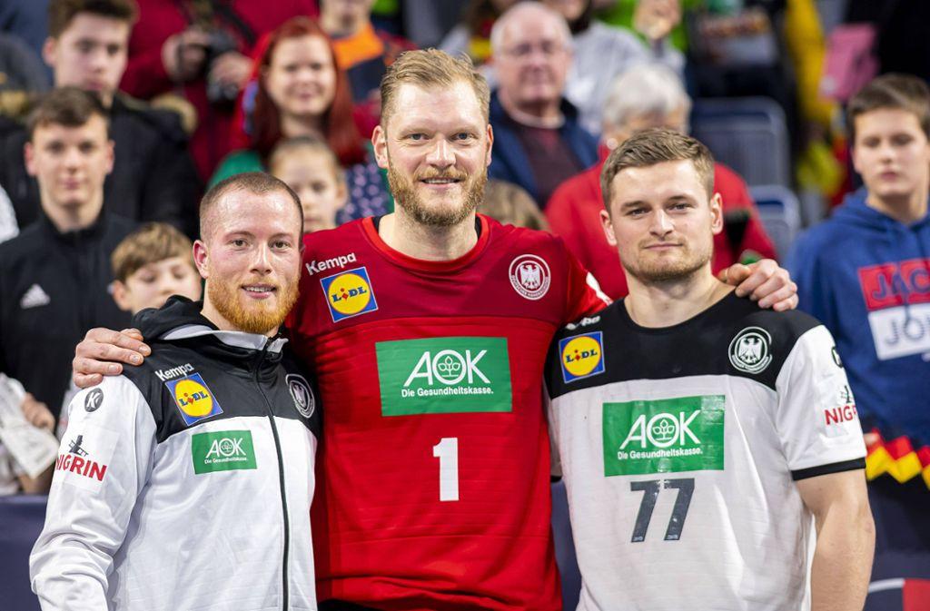 Patrick Zieker, Johannes Bitter und David Schmidt (v.l.n.r.) stehen im deutschen Kader für die Europameisterschaft. Foto: imago images/wolf-sportfoto/Marco Wolf