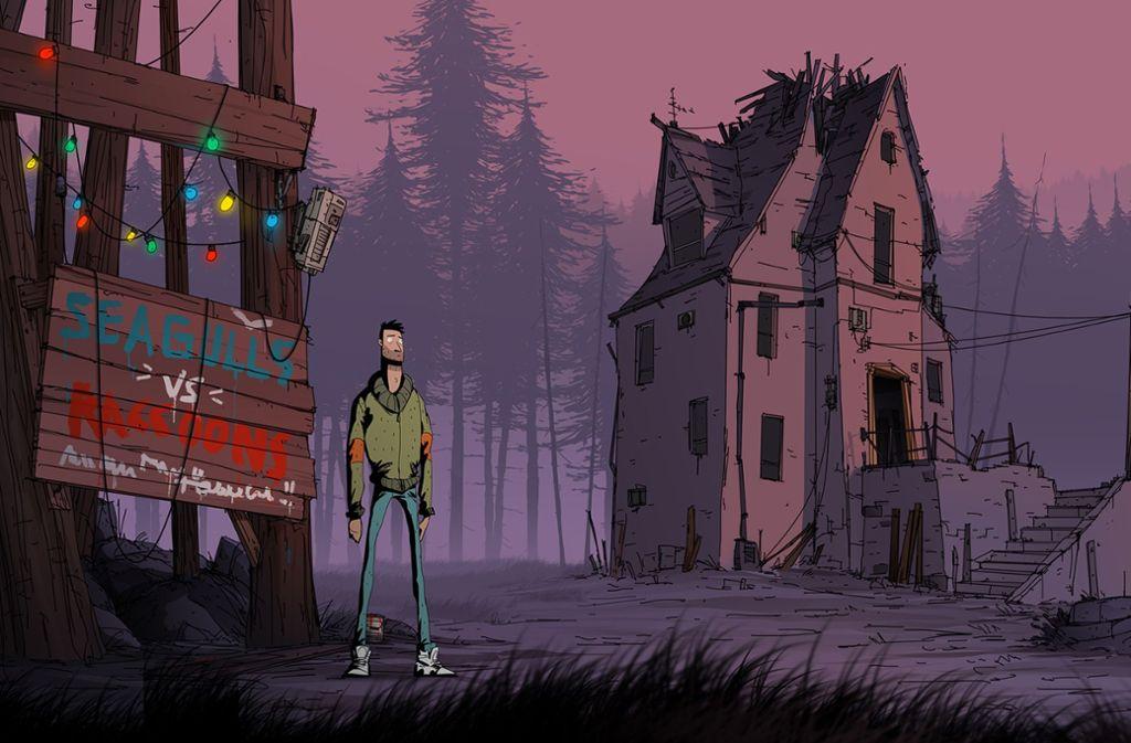 """Gerade mal  ratlos: Der Held aus """"Unforeseen Incidents"""" Foto: Backwoods Entertainment"""