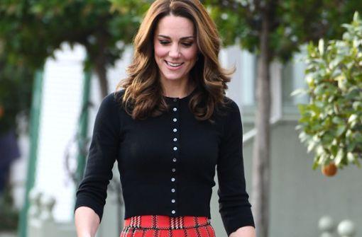 Herzogin Kate überzeugt im Schottenrock