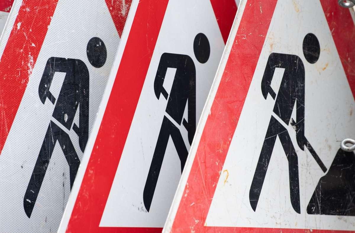 Autofahrer müssen sich im Synergiepark auf Behinderungen einstellen. Foto: dpa/Sebastian Kahnert