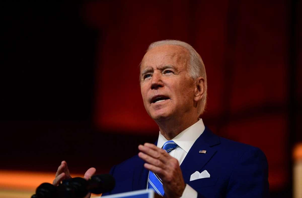 Joe Biden setzt bei seinem  Kommunikationsteam auf Frauenpower. (Archivbild) Foto: AFP/Mark Makela