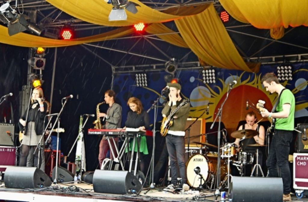 Vor allem die Bands aus aller Welt lockten viele Besucher an den Marienplatz. Foto: Nina Ayerle