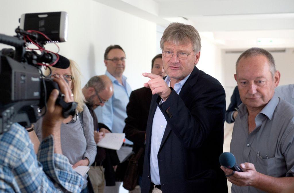 AfD-Landeschef Jörg Meuthen hat im derzeitigen Chaos gerade großen Erklärungsbedarf. Foto: dpa