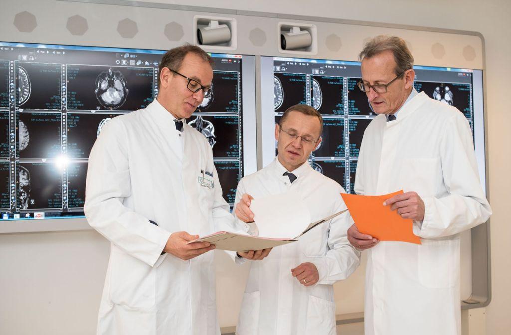 Die drei Stuttgarter Krebsmediziner Gerald Illerhaus, Hans-Georg Kopp und Walter Erich Aulitzky Foto: Lichtgut/Max Kovalenko