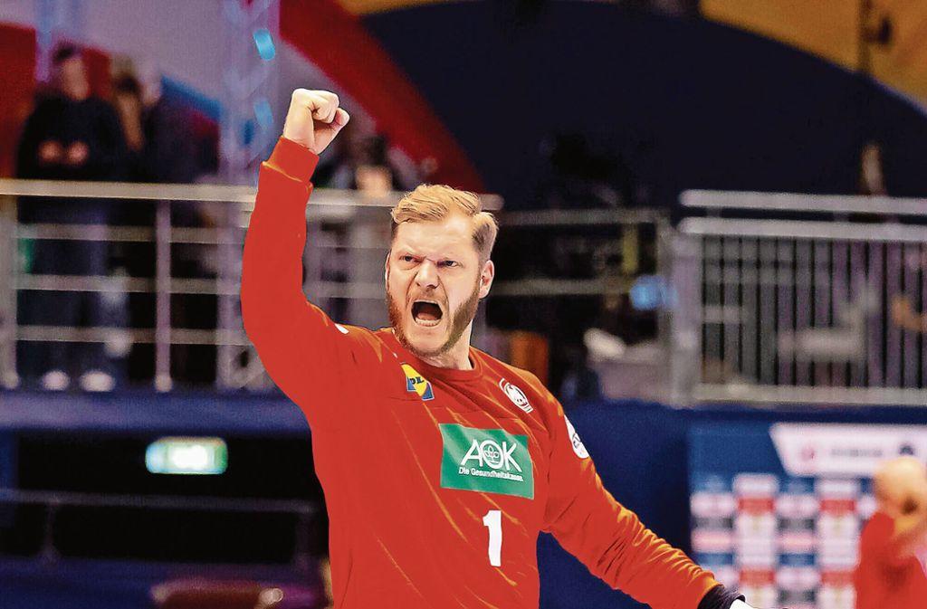 Großer Auftritt gegen Österreich: Johannes Bitter vom TVB Stuttgart Foto: imago//Felix Koenig