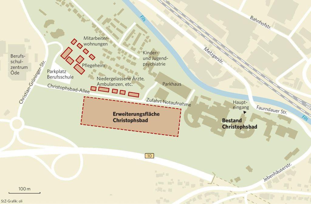 Bauarbeiter könnten in den kommenden Jahren auf dem Christophsbad-Gelände viel zu tun haben. Foto: StZ