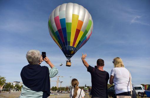 Heißluftballons über Stuttgart