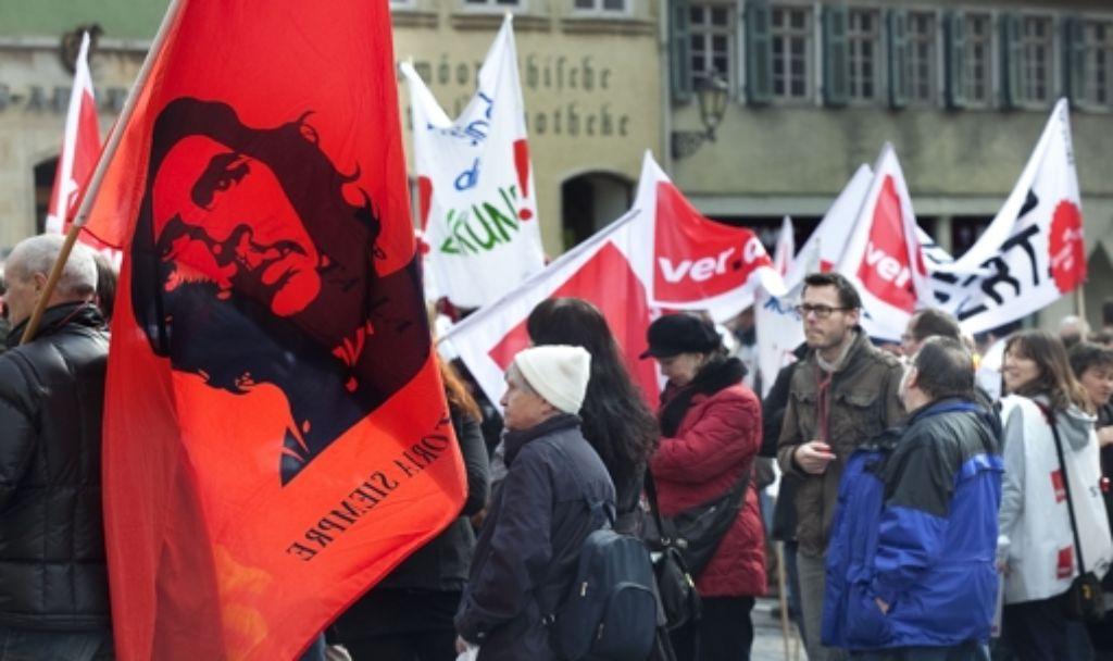 Im Streik vereint: Kubanischer Revolutionär und Esslinger Busfahrer Foto: Horst Rudel