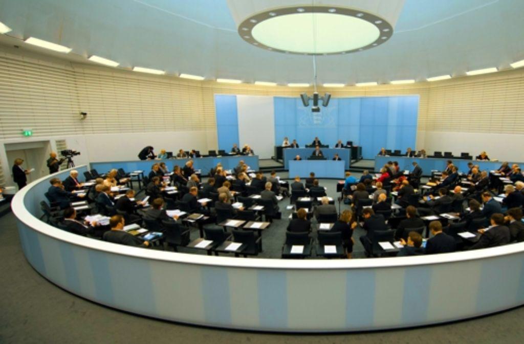 Blick in den Landtag von Baden-Württemberg Foto: dpa