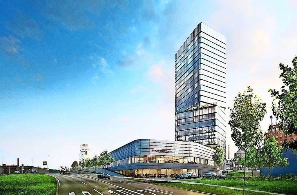 Die Bauarbeiten für den Porsche-Turm sollen im ersten Halbjahr  beginnen. Foto: Porsche
