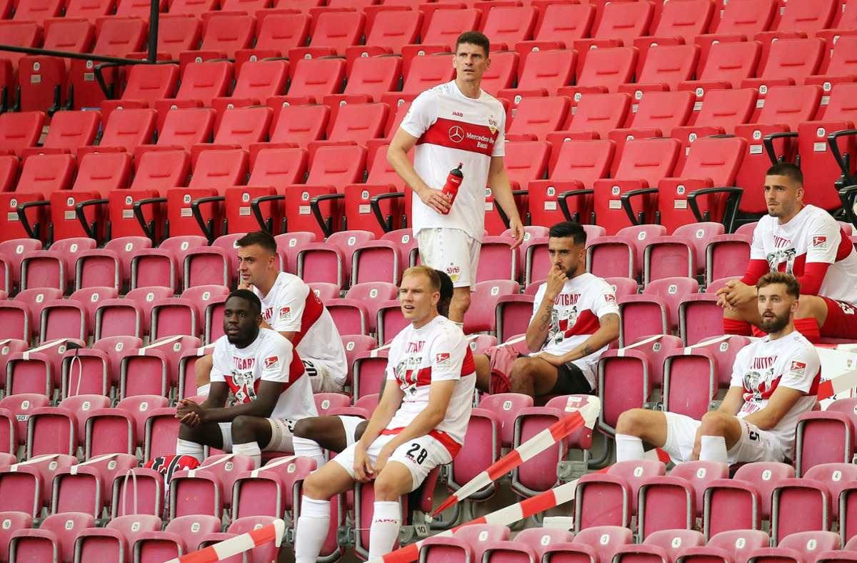 Auch beim VfB Stuttgart bleiben in Zeiten von Corona die Fan-Ränge leer. Foto: Pressefoto Rudel / Robin Rudel /Rbin Rudel