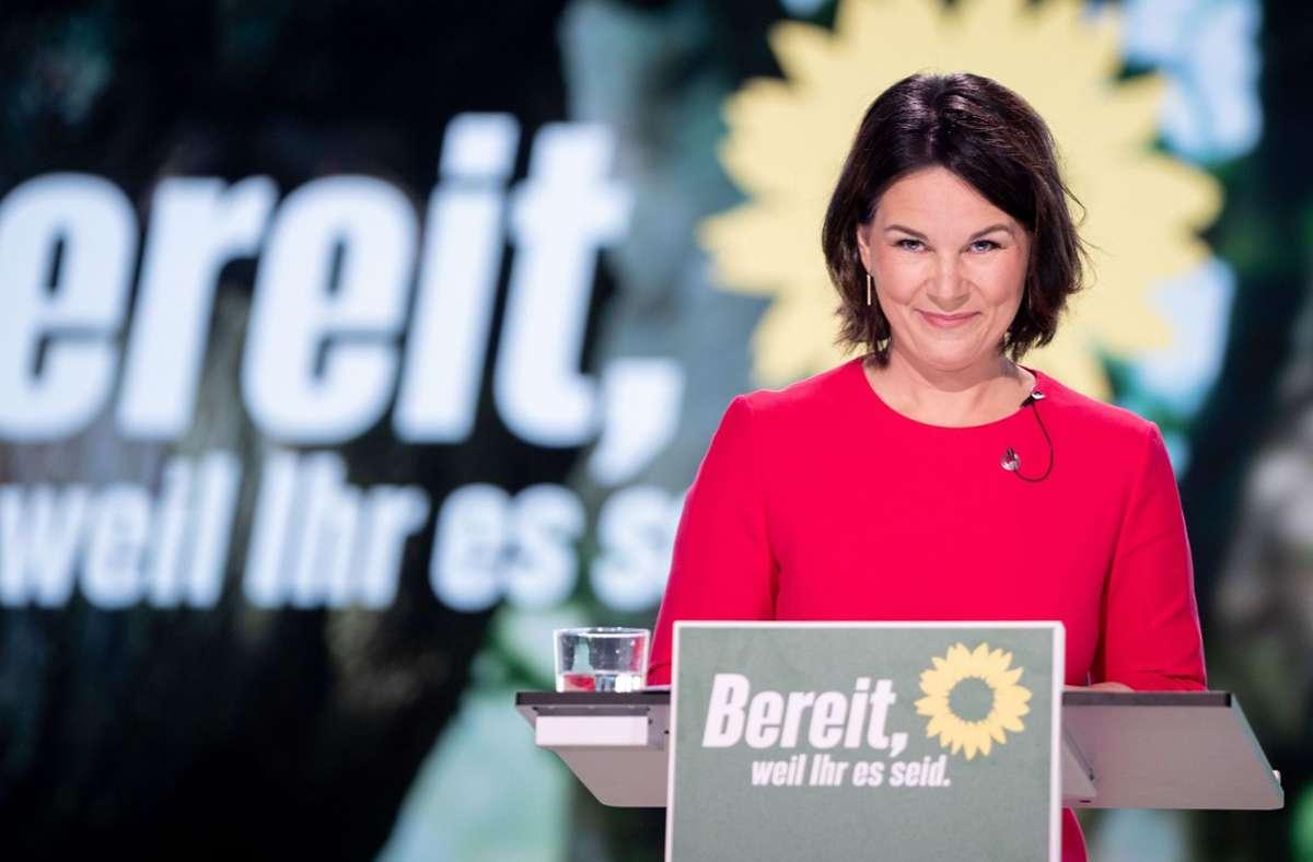 Annalena Baerbock beim Bundesparteitag der Grünen im Juni. Foto: dpa/Kay Nietfeld