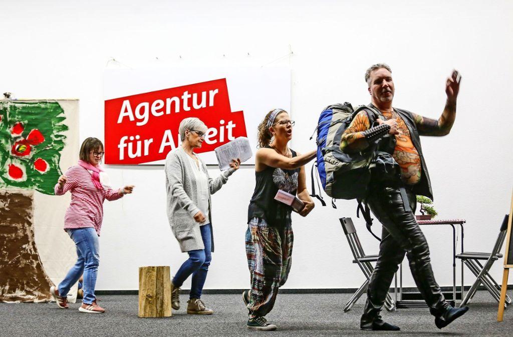 """Das tolle Motto der Lebenshilfe: """"Zusammen sind wir wunderbar, verschieden, aber unschlagbar."""" Foto: factum/Simon Granville"""
