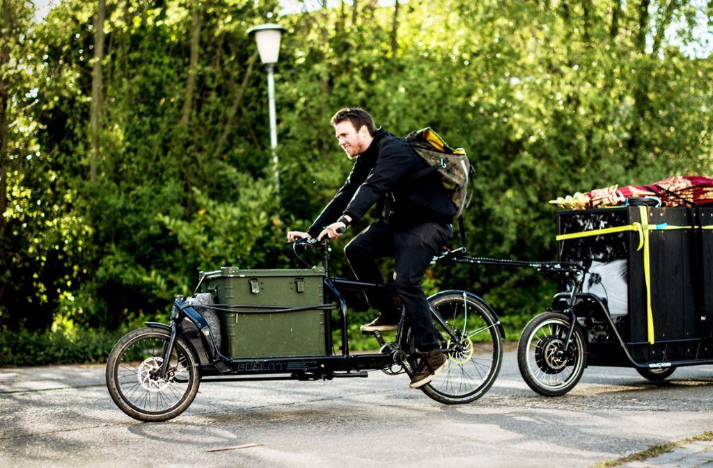 Von der Stadt gibt es bis zu 2000 Euro Zuschuss für das Lastenrad. Foto: Simon Verschelde (Symbolbild)