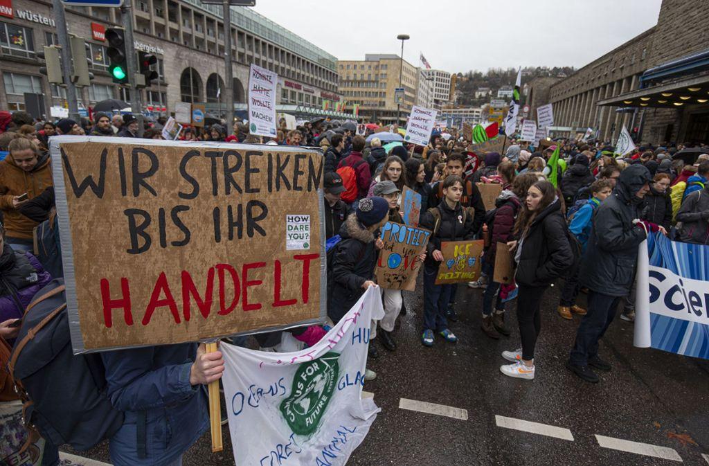 Am vergangenen Freitag demonstrierten - wie hier in Stuttgart – weltweit Schüler und Studenten für einen verstärkten Klimaschutz. Foto: Lichtgut/Leif Piechowski