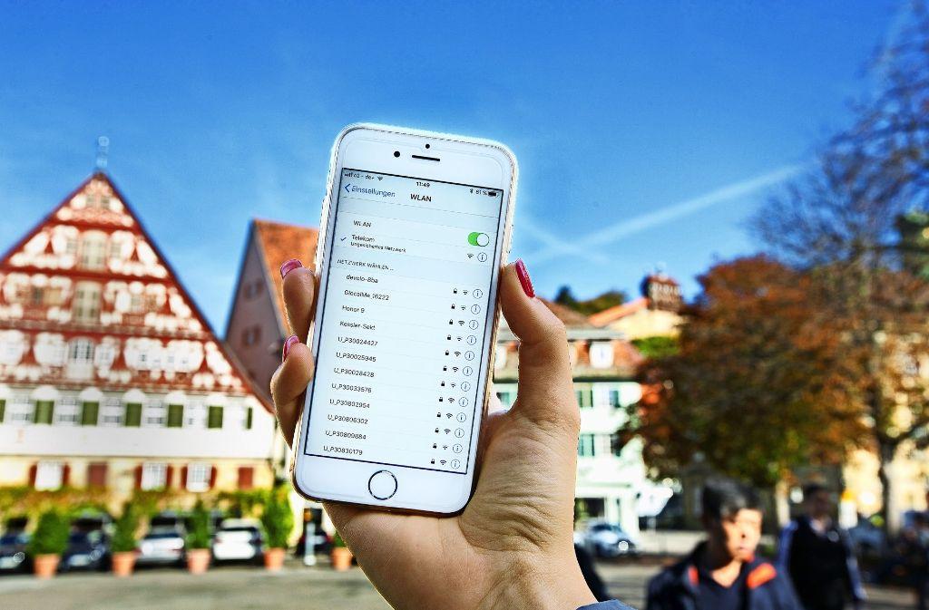 Noch ist kostenloses WLAN in der Esslinger Altstadt ein Traum. Foto: Horst Rudel