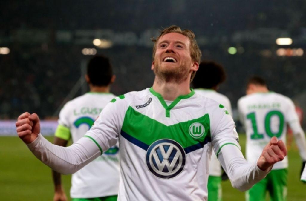 Der Matchwinner für den VfL Wolfsburg bei Hannover 96: André Schürrle. Foto: dpa