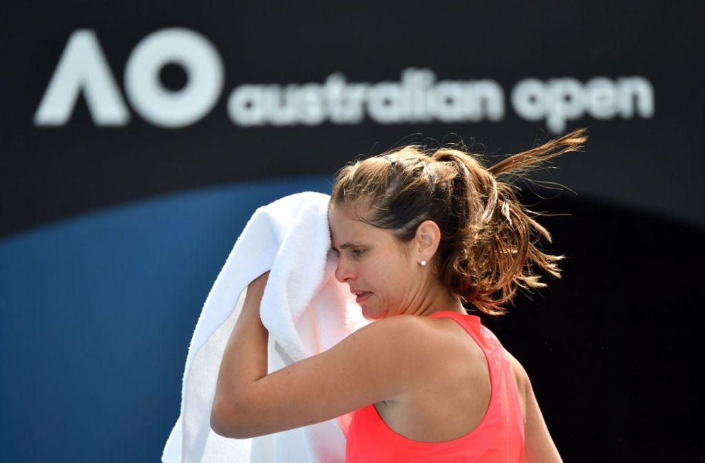 Julia Görges ist bei den Australian Open in Melbourne ausgeschieden. Foto: AFP/JOHN DONEGAN