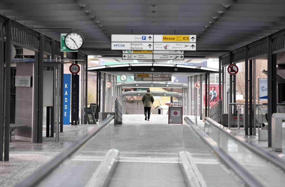 Das Coronavirus sorgt für Stillstand am Flughafen Stuttgart. Foto: Horst Rudel