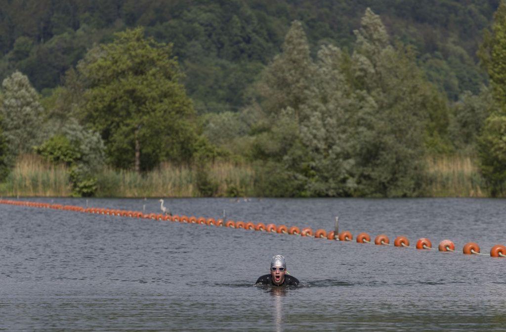 Auch am Plüderhausener Badesee hat das Wasser Topqualität (Archivbild). Foto: Frank Eppler