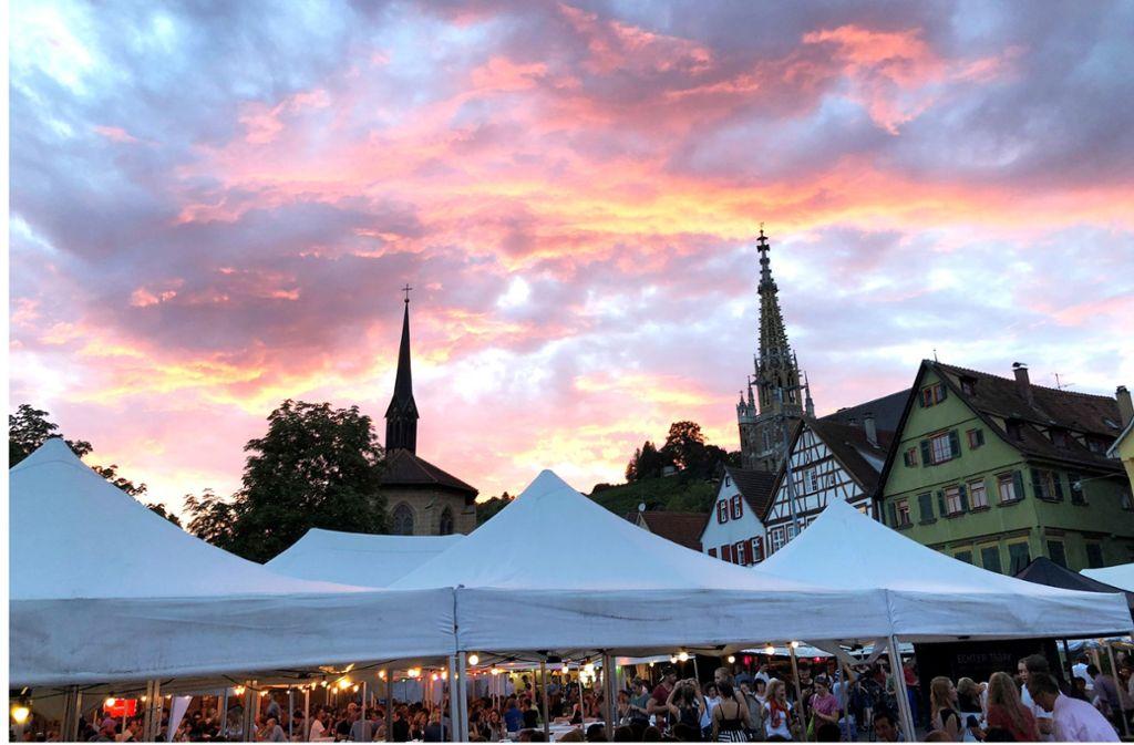 Die Farbe Weiß soll auf dem Marktplatz dominieren. Foto: Esslinger Sommer