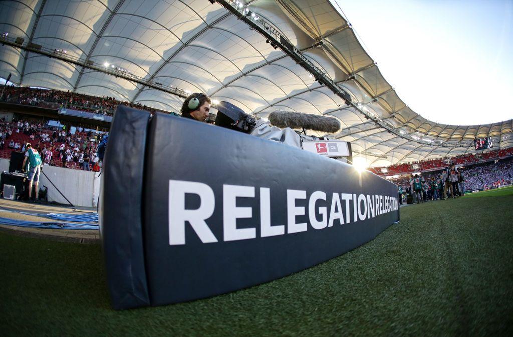 Eurosport übertragt die Relegationsspiele zwischen 1. und 2. Bundesliga. Foto: Pressefoto Baumann