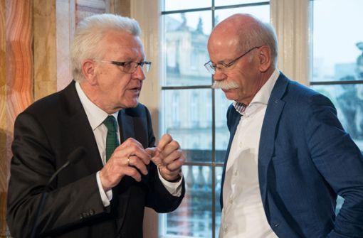 Kretschmann zollt Zetsche Anerkennung und freut sich auf Källenius