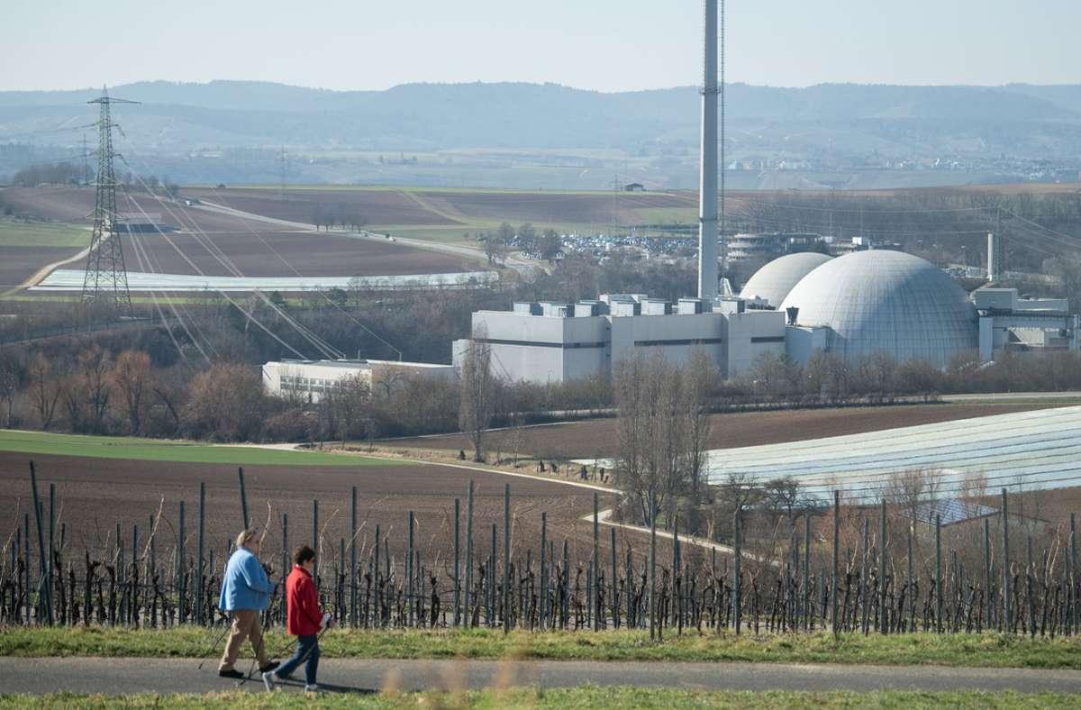 Das Atomkraftwerk in Neckarwestheim. Foto: dpa/Sebastian Gollnow