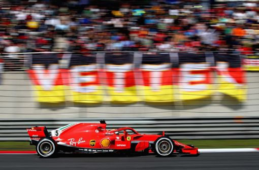 Sebastian Vettel in Shanghai nur Achter