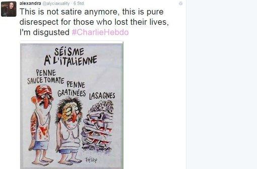 """""""Charlie Hebdo""""-Zeichnung empört Italiener"""