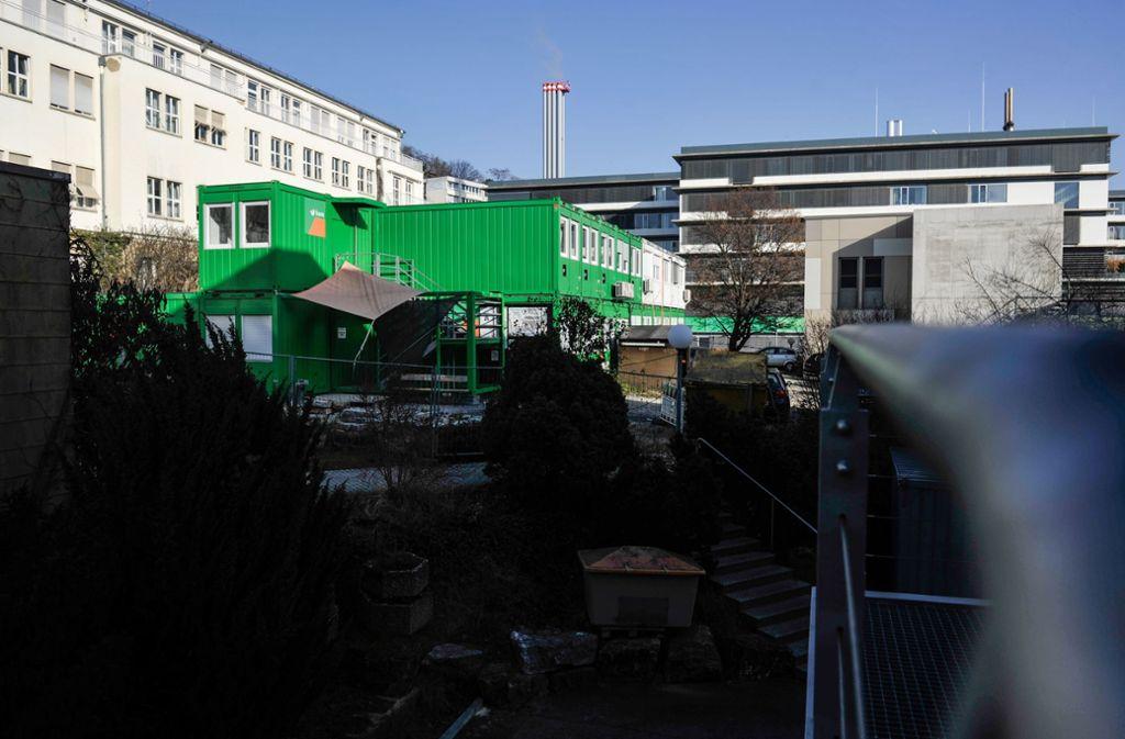 Die Baustelle des Klinikums an der    Kriegsbergstraße Foto: Lichtgut/Max Kovalenko
