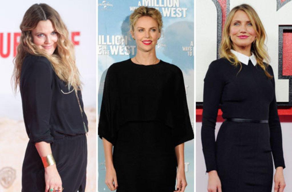 Drew Barrymore, Charlize Theron und Cameron Diaz sind für eine Razzie (Goldene Himbeere) nominiert. Wem noch der Schmähpreis droht... Foto: dpa