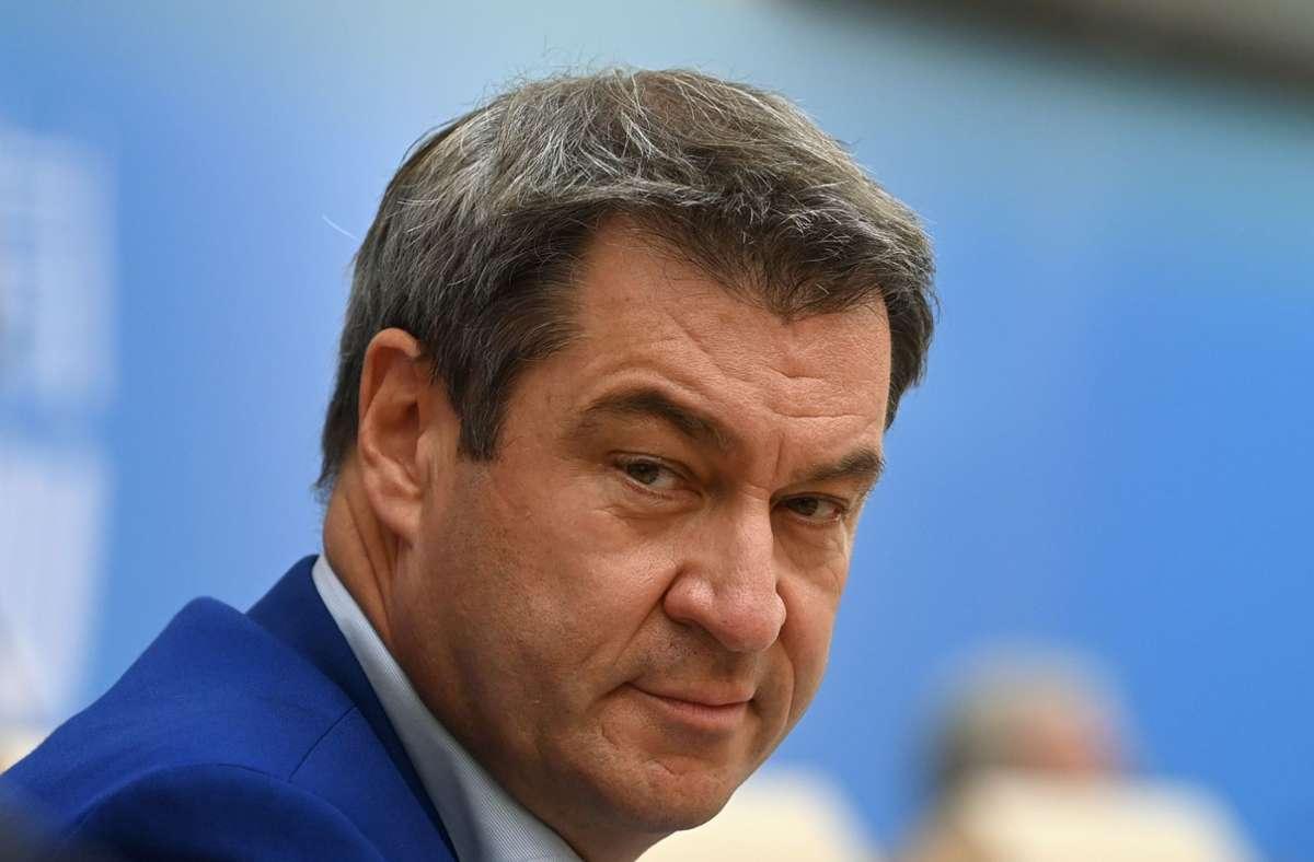"""Markus Söder hat sich für eine bundesweite """"Corona-Ampel"""" ausgesprochen. (Archivbild) Foto: AFP/CHRISTOF STACHE"""