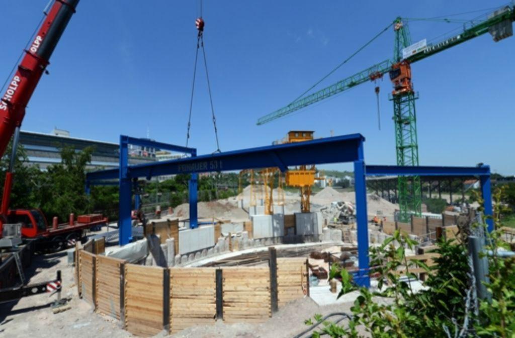 Das Bauunternehmen Alpine baut zusammen mit anderen am Cannstatter Tunnel. Foto: dpa