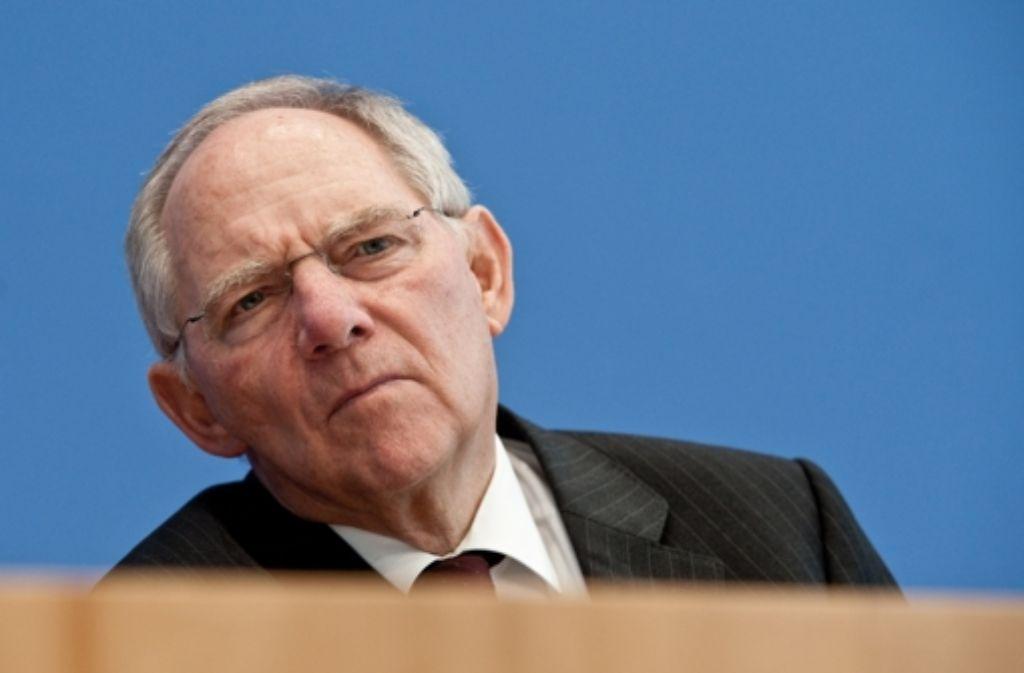 Laut Finanzminister Schäuble Foto: dpa