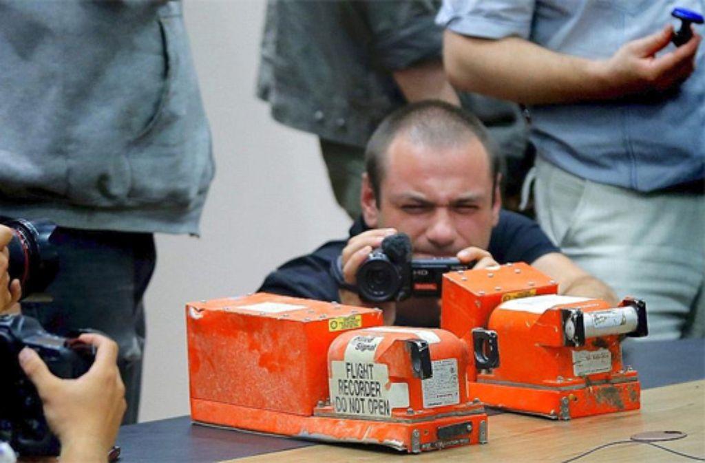 Der Flugschreiber der MH17. Foto: dpa