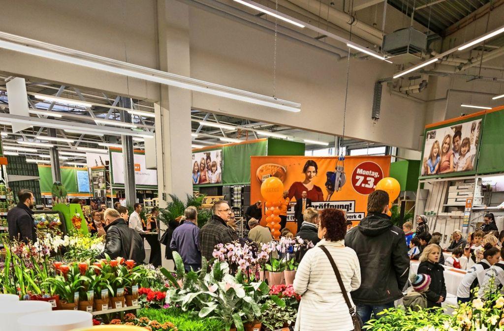 Der Heimwerkermarkt im Westen ist Anfang März eröffnet worden. Foto: Lichtgut/Max Kovalenko
