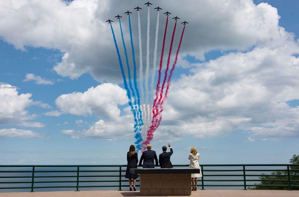 Nicht nur an  nationalen Gedenktagen spielen Schadstoffausstoß und Klimaschutz in Frankreich bisher in der Praxis höchstens   eine Nebenrolle. Foto: AFP