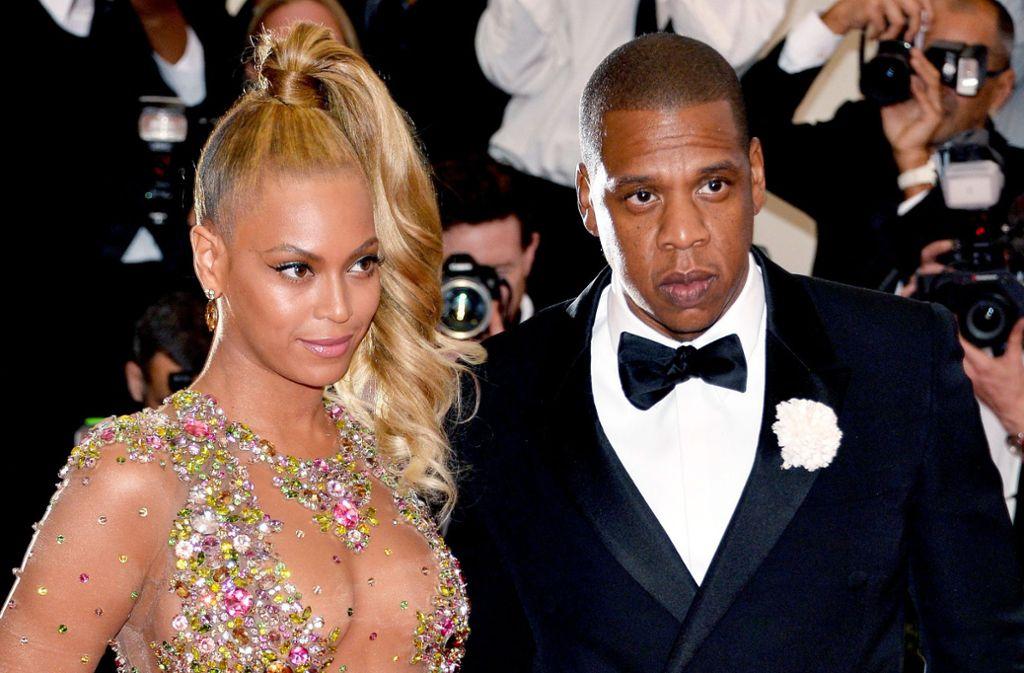 Glamouröses Paar: Der Rapper Jay-Z mit seiner Frau Beyoncé 2015 bei einer Gala im Metropolitan Museum in New York Foto: dpa/Justin Lane