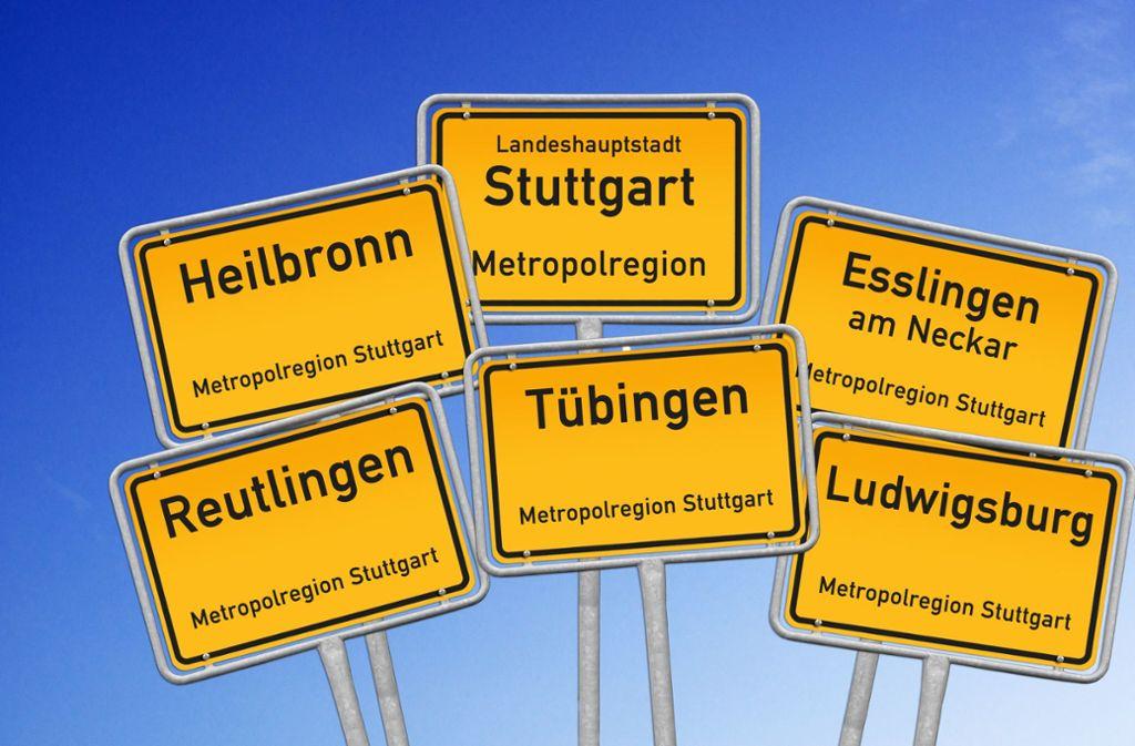 Wichtige Städte liegen in der Metropolregion Stuttgart. Foto: Archiv