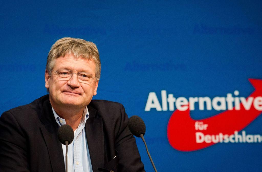 """AfD-Chef Jörg Meuthen hält Horst Seehofer und seine Aussagen über den Islam für nicht """"authentisch"""". Foto: dpa"""