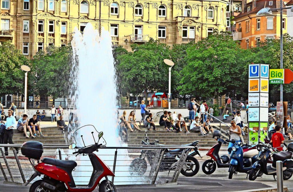 Rainer Bocka will    mit seiner Idee die Attraktivität des Marienplatzes  in den Sommermonaten steigern. Foto: